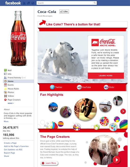 Coca Cola Page
